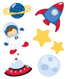 236x273 Outer Space Astronaut Stickers For Boys And Girls