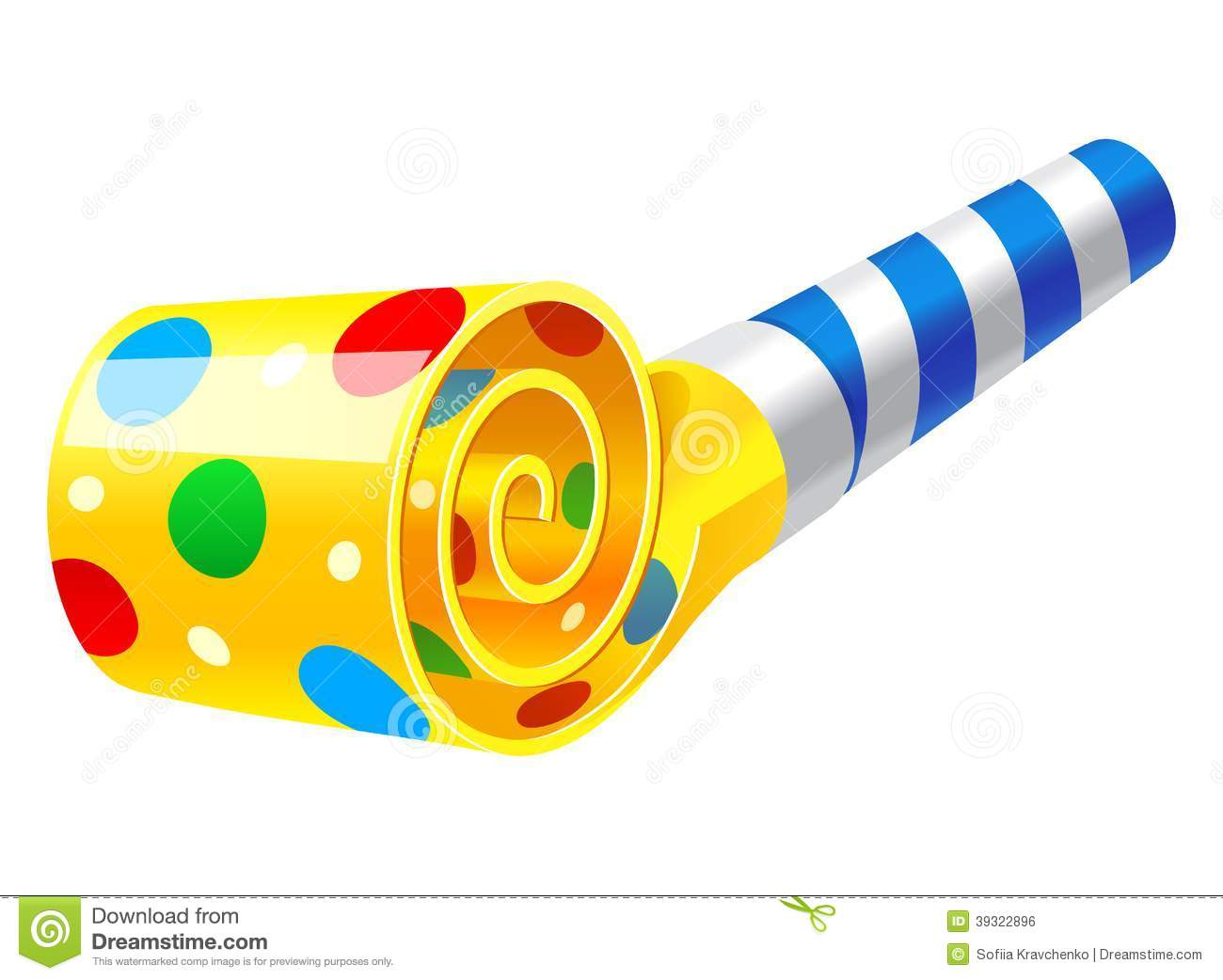 1300x1042 Party Blower Clipart