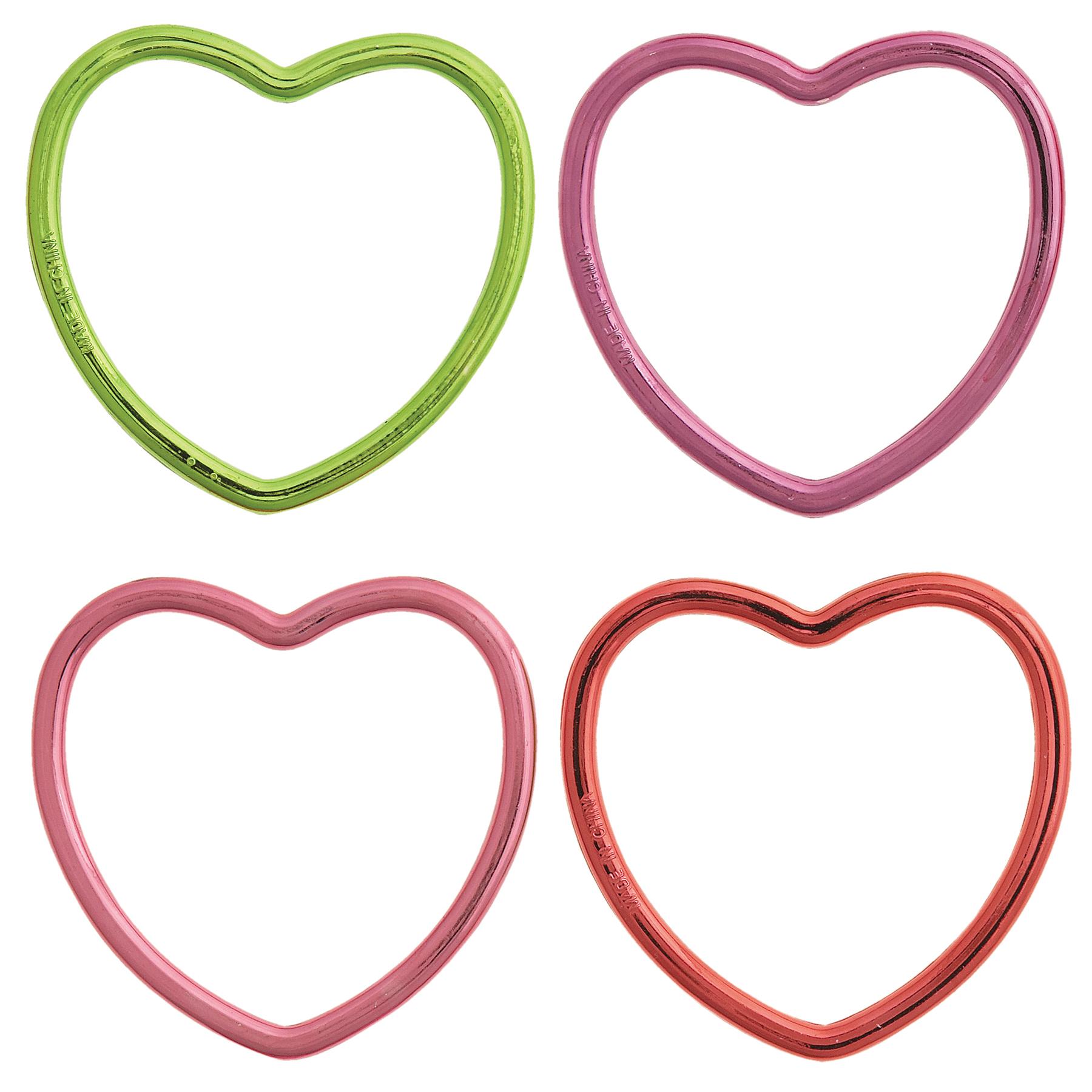 1800x1800 Plastic Metallic Heart Bracelet Favors Girl Birthday Party Favors