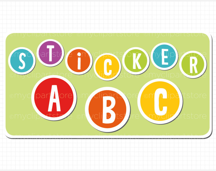 760x600 Stickers Clipart