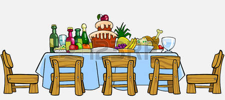 450x200 Table Clipart Party Table