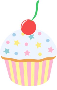 236x368 Vanilla Cupcake Clipart Party Food