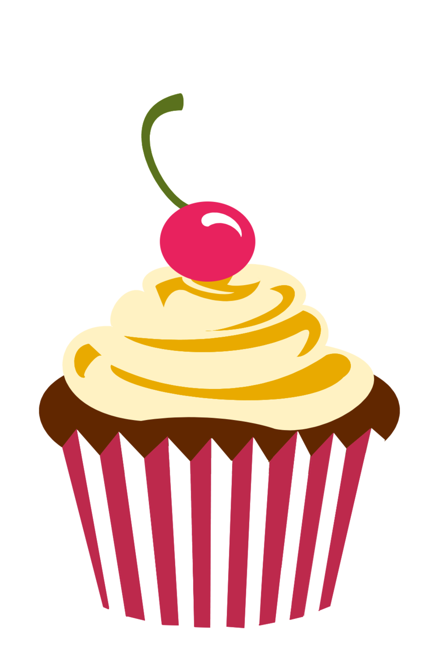 900x1350 Vanilla Cupcake Clipart Party Food