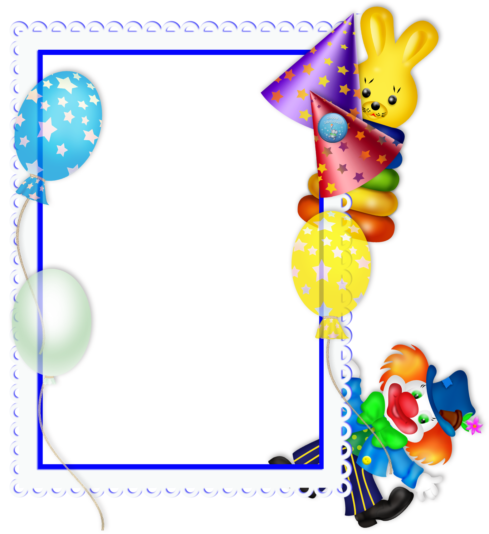 1567x1709 Happy Birthday Transparent Png Party Frame Stationary 2