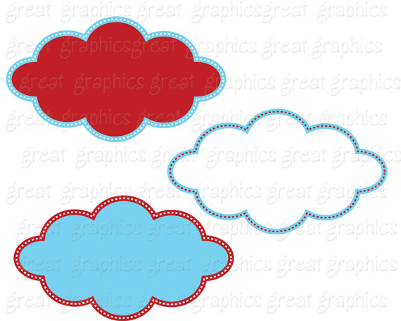 570x456 Red And Blue Frame Kids Birthday Party Digital Frame Clipart
