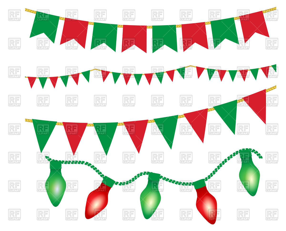 1200x973 Christmas Lights Ans Party Buntings Royalty Free Vector Clip Art