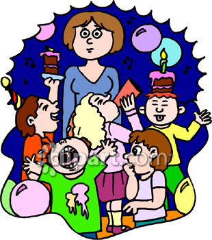 310x350 Kids Birthday Party Clip Art
