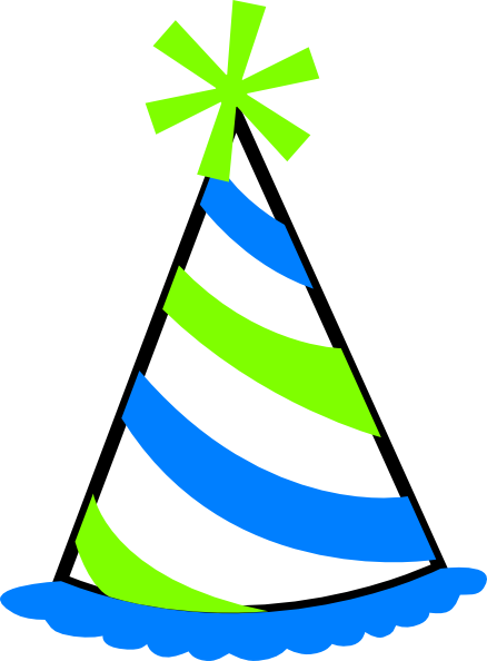 438x594 Green And Blue Party Hat Clip Art