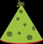 176x179 Green Party Hat Clip Art