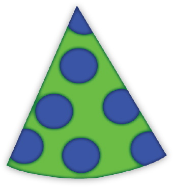 340x367 Party Hat With Polka Dots Clip Art