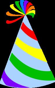 189x300 Rainbow Party Hat Sky Blue Clip Art