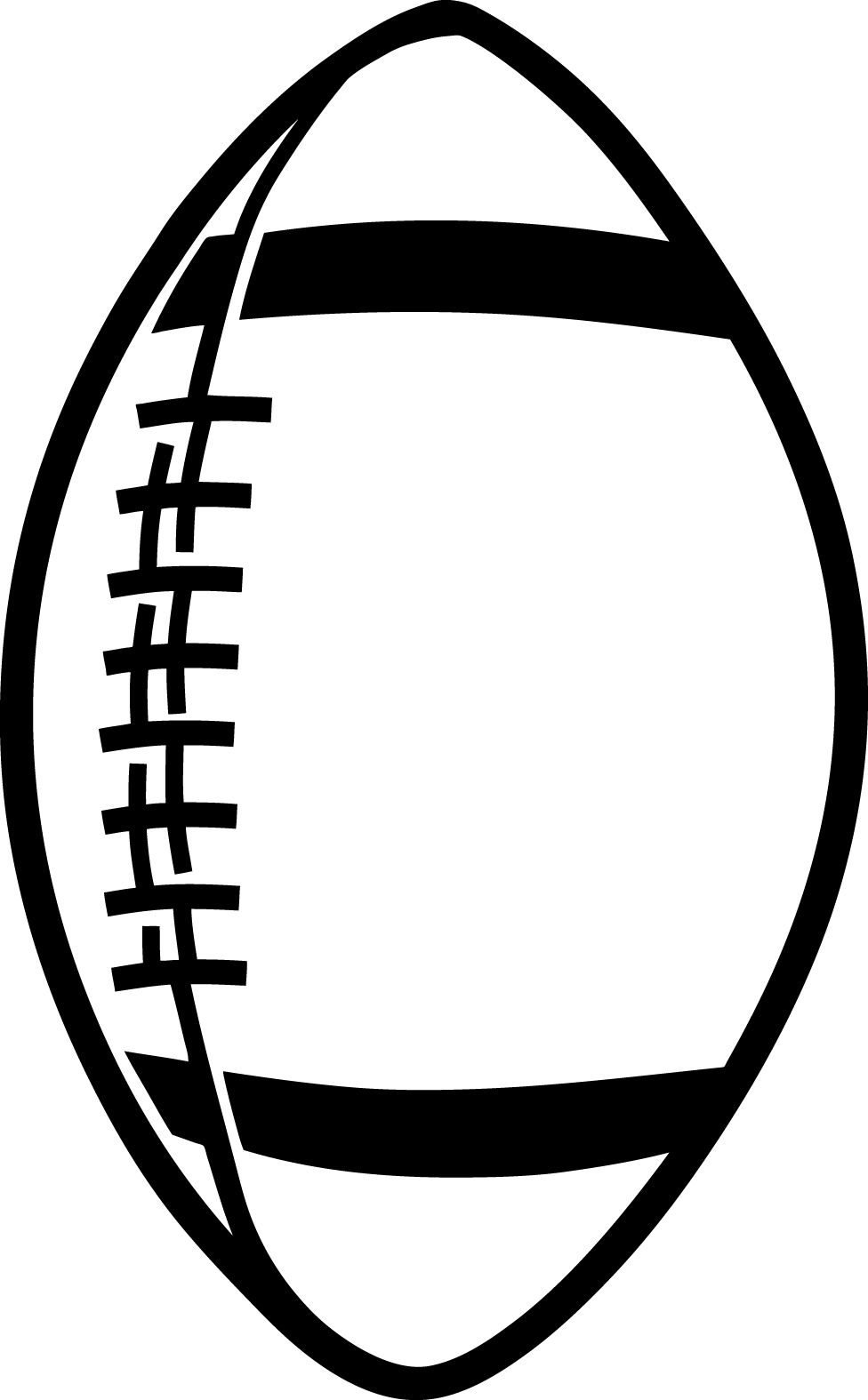 976x1575 Free Football Black And White Clipart Image