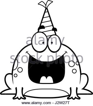 300x341 A Cartoon Illustration Of A Frog With A Party Hat Looking Drunk