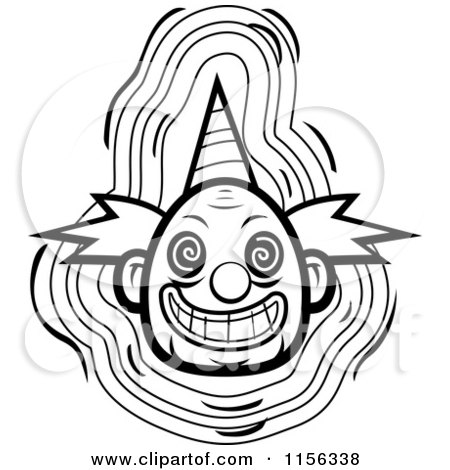 450x470 Scary Clown Faces Black And White Clip Art Cliparts