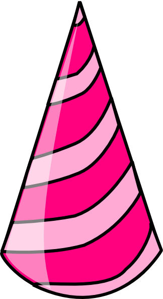 324x593 Birthday Hat Party Clipart Transparent Background 3