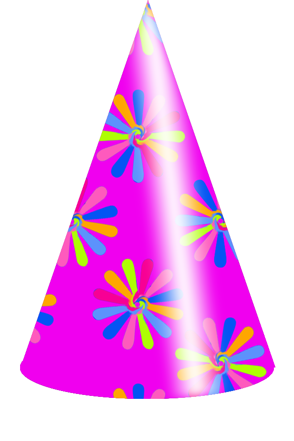 600x900 Pink Birthday Hat Clipart