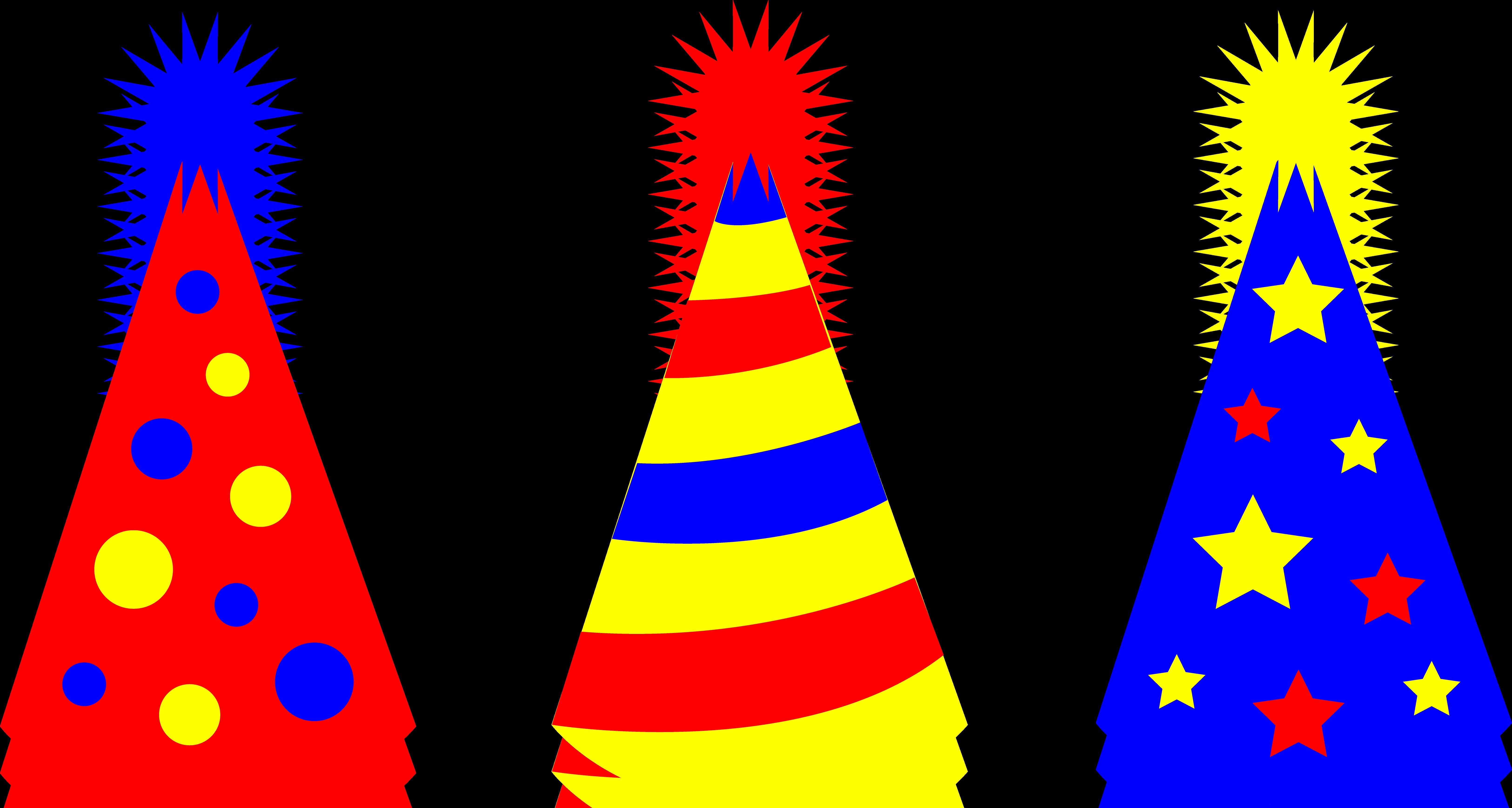 6500x3476 Clipart Party Hat