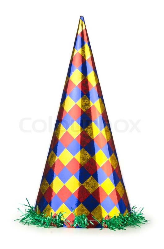 530x800 Party Hat Isolated On The White Stock Photo Colourbox