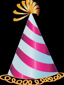 225x297 Pink Party Hat Clip Art