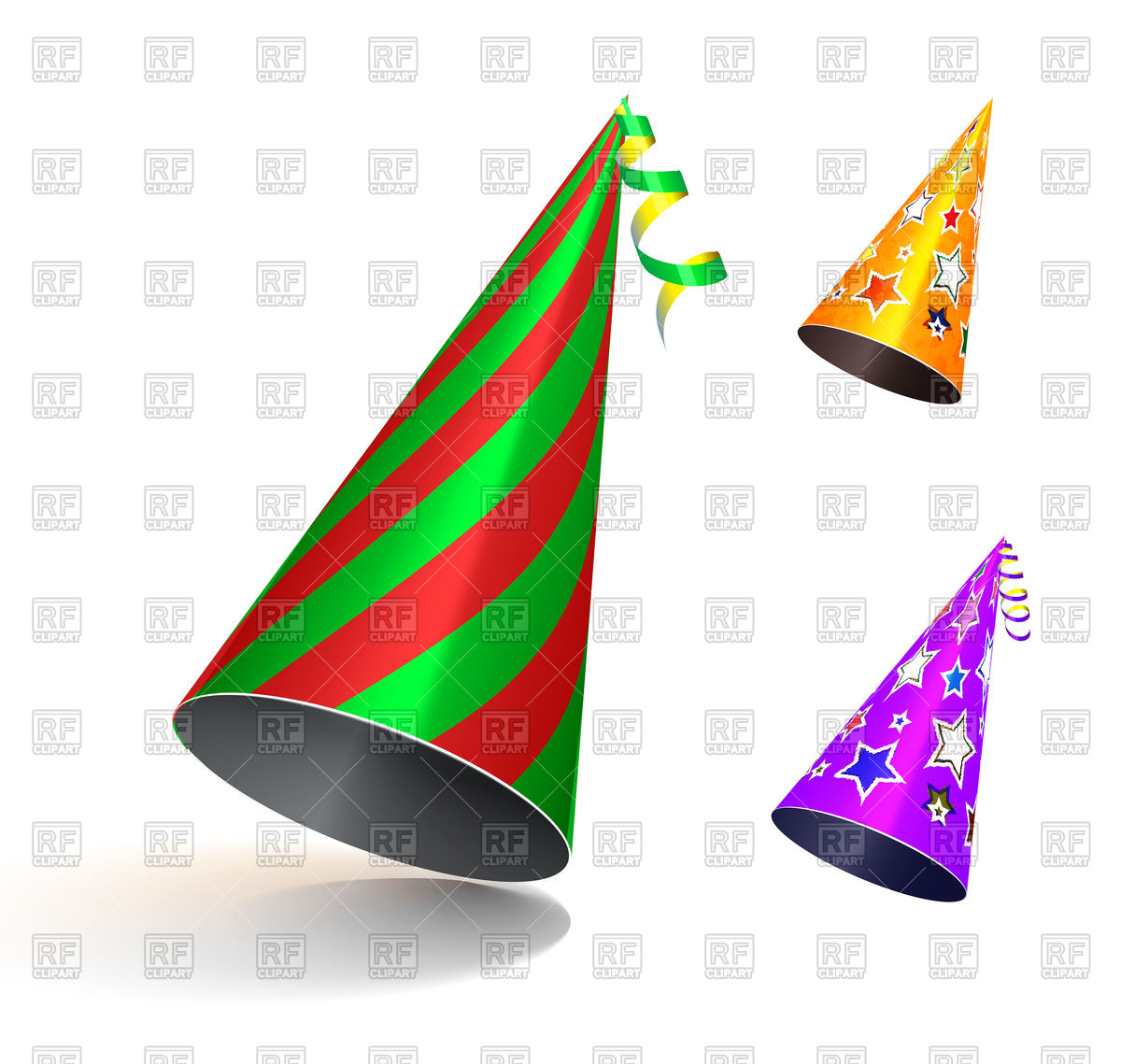 1200x1139 Colorful Party Hats Royalty Free Vector Clip Art Image