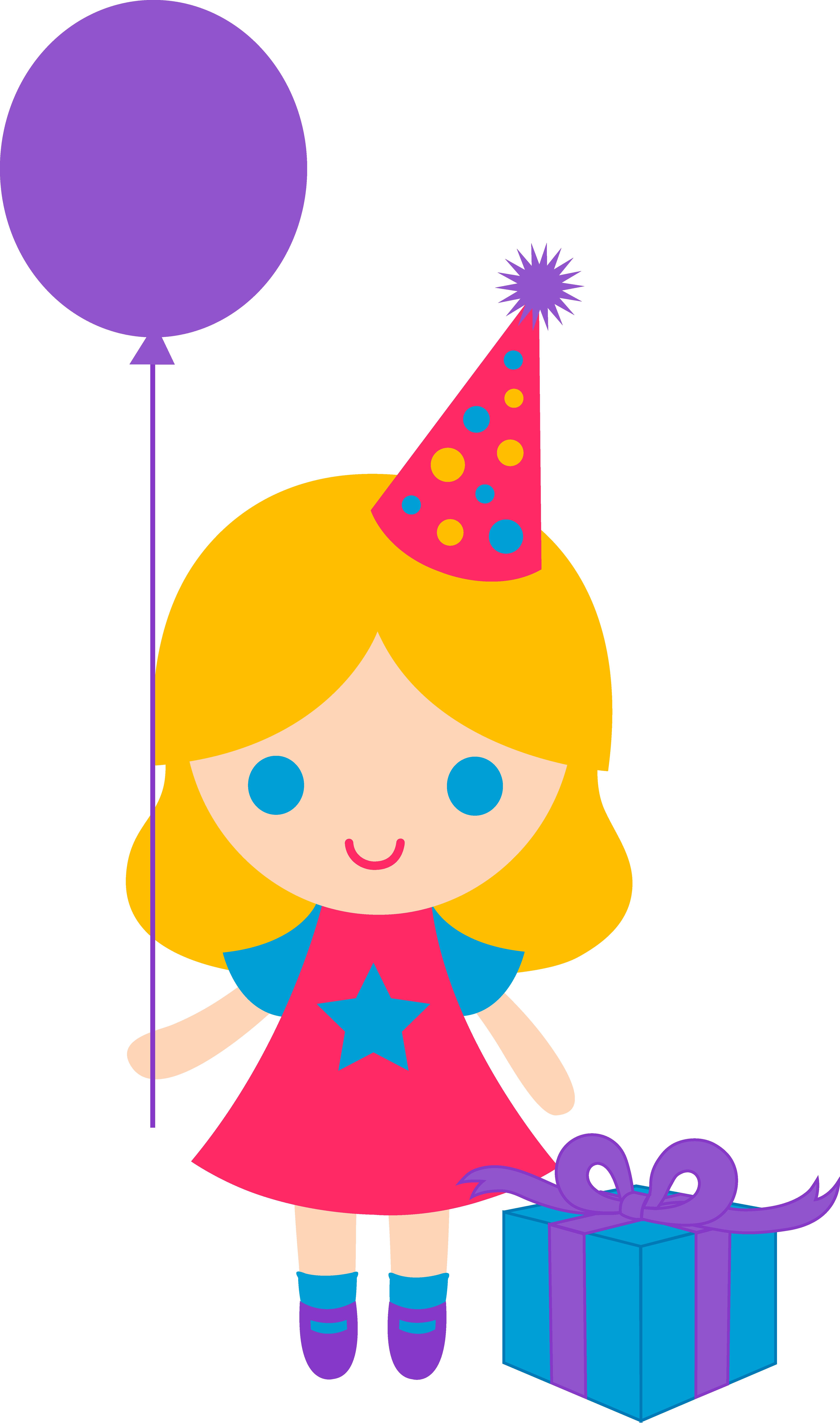 4986x8442 Little Birthday Girl Clip Art
