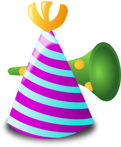 492x597 Hat And Horn Clip Art