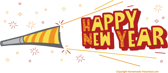 578x251 New Year Clipart Horn