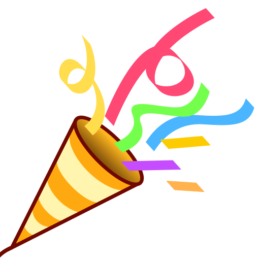 512x512 Party Popper Emoji For Facebook, Email Amp Sms Id  12861 Emoji