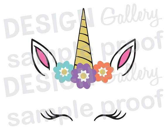 570x440 Unicorn Face Svg Dxf Png Jpg Cut Files Birthday Party Believe