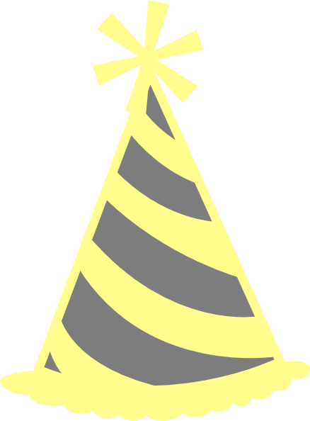 438x594 Yellow Gray Party Hat Clip Art