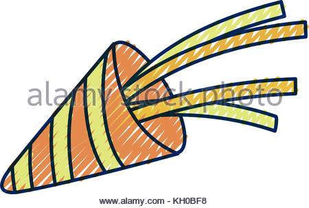 450x303 Blue Party Horn Blower Object Isolated White Background Stock