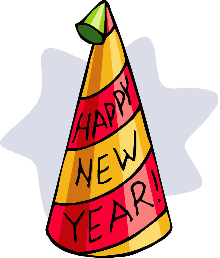 750x878 New Year Clipart Party Hats And Horns
