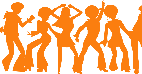 600x315 Orange Disco Party Clip Art