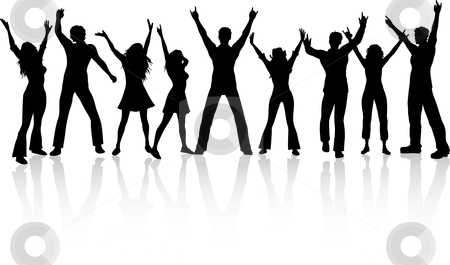 450x265 Party People Clipart Black And White