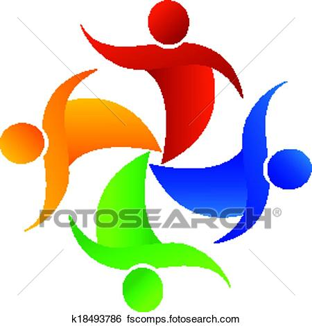 450x470 Clip Art Of Party People Logo App. K18493786