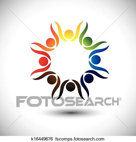 450x470 Clip Art Of Concept Of Lively Party People Or Friends Celebrating