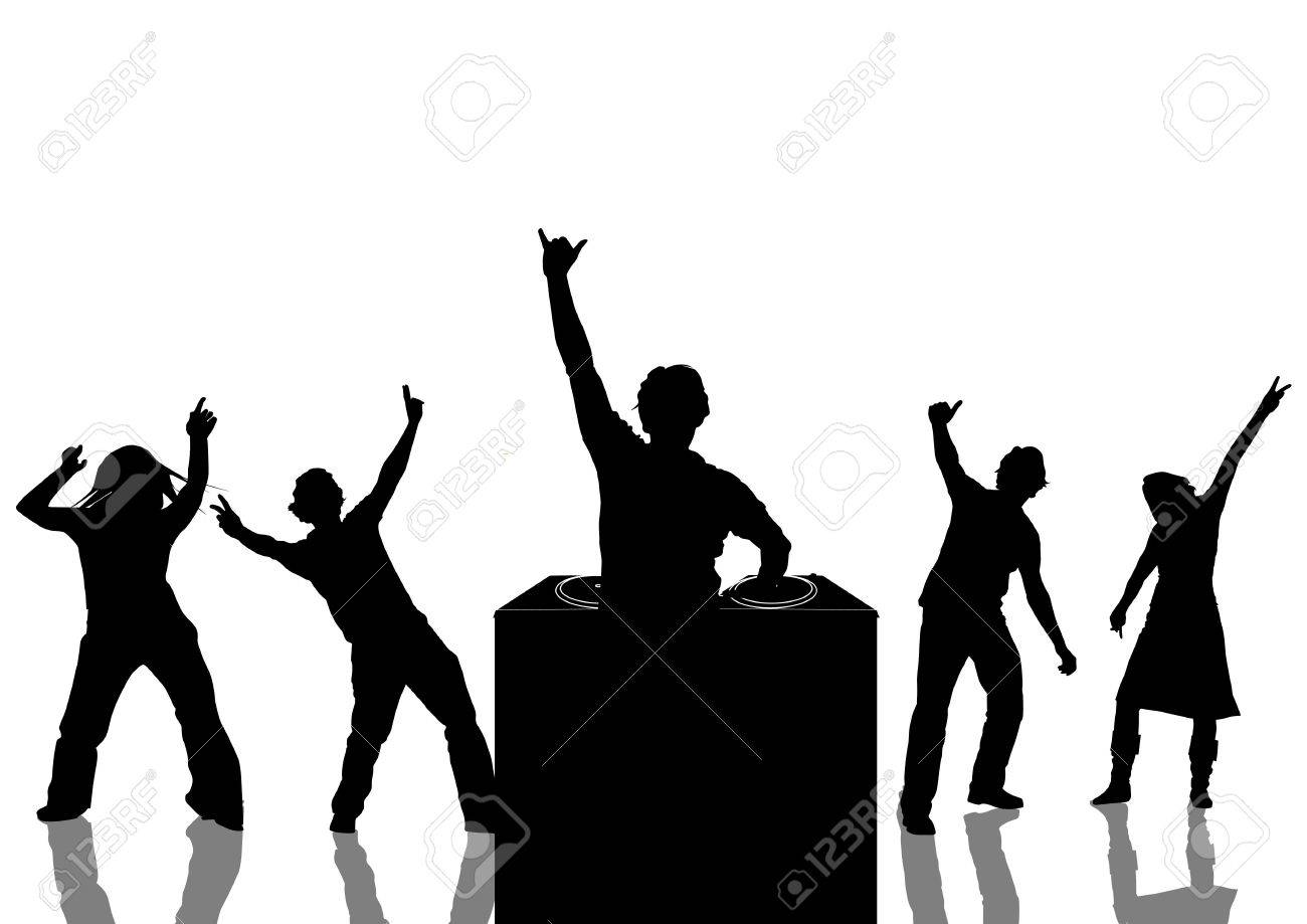 1300x919 Happy People Dancing At A Party Stock Photo, Picture And Royalty