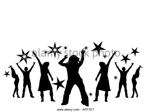 640x473 Music Dance Party Background Dancing Black And White Stock Photos
