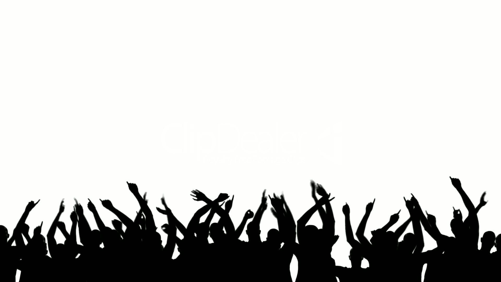 1920x1080 Party Crowd Silhouette Royalty Free Video And Stock Footage