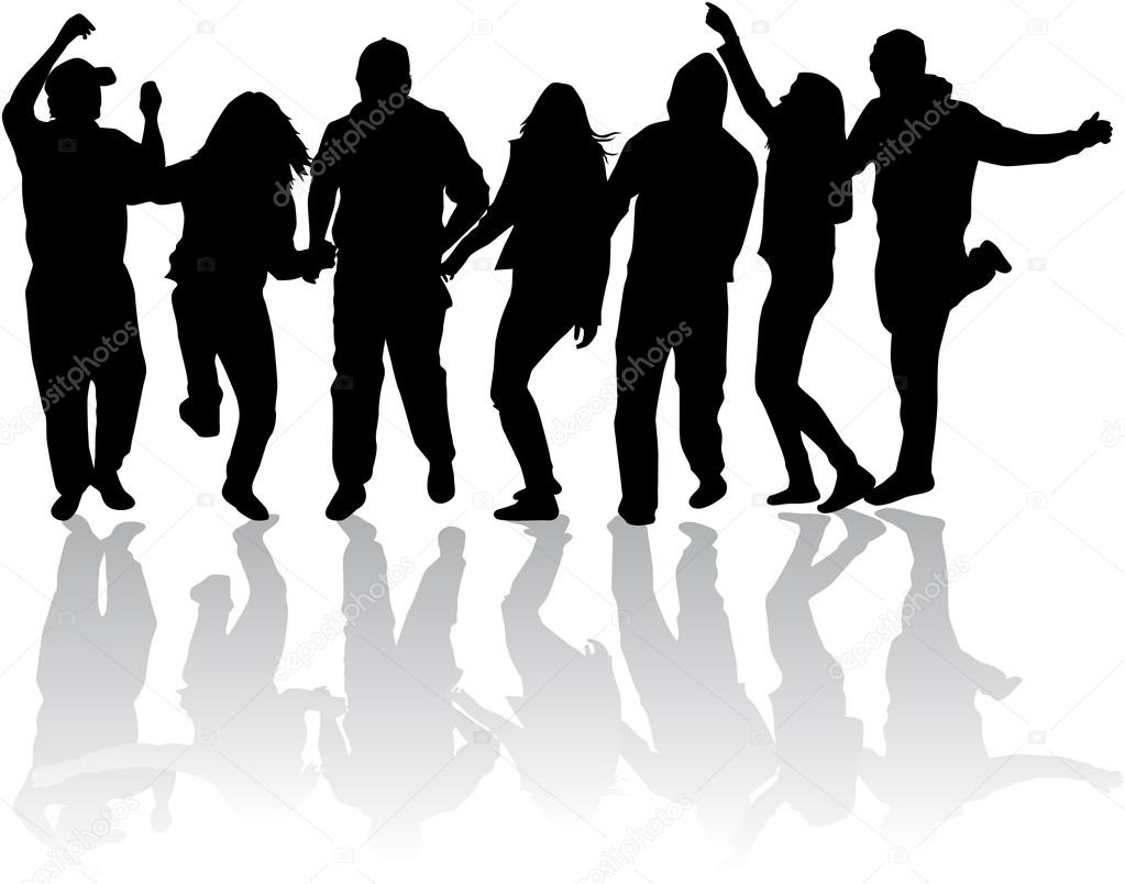 1023x804 Party People Dancing Stock Vector Pablonis