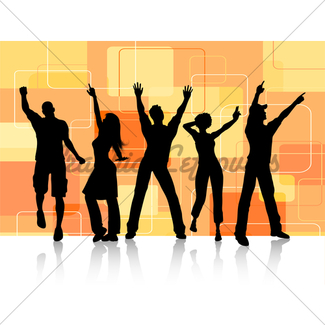 325x325 Party People Dancing Gl Stock Images