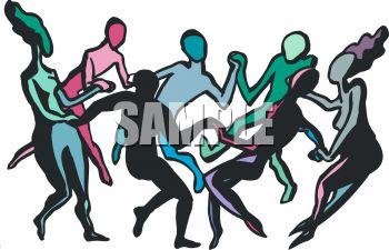 350x225 People Dancing Clip Art
