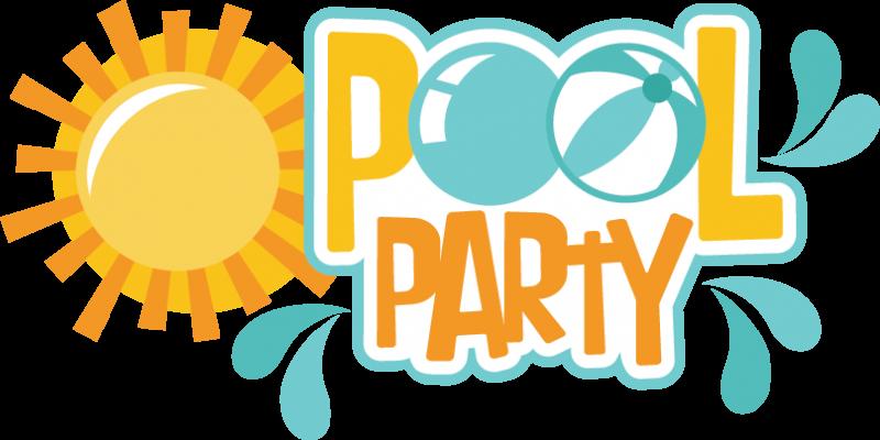 800x400 Girls Pool Party Cute Clipart Clip Art Summer