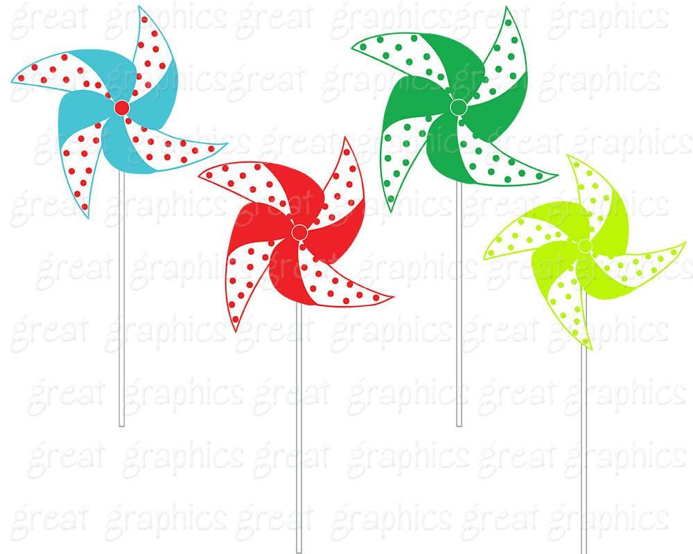 1000x800 Pinwheel Clip Art Digital Clipart Printable Party Clipart Birthday