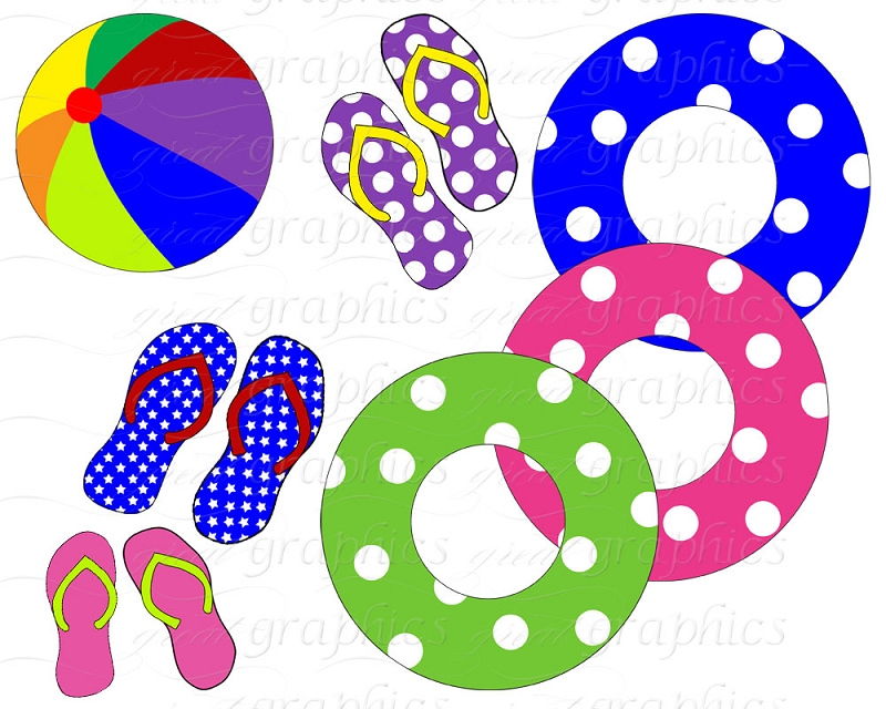 800x640 Clipart Pool Party Free