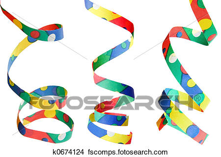 450x319 Drawings Of Party Streamers Isolated K0674124