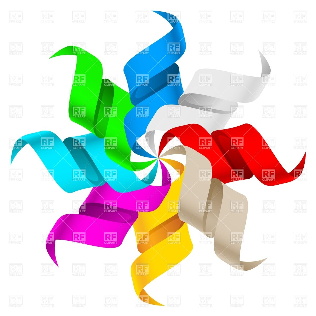 1200x1200 Party Streamers And Confetti Royalty Free Vector Clip Art Image