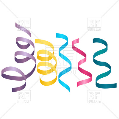 400x400 Set Of Party Streamers Royalty Free Vector Clip Art Image