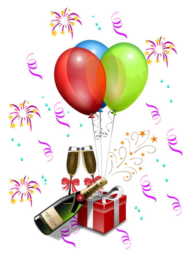 736x989 Birthday Party Decorations Clipart
