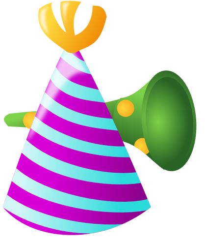 418x500 Vector Clip Art Of Birthday Party Decoration Public Domain Vectors
